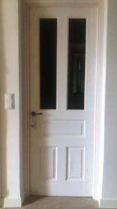 Puerta maciza vidriera vintage