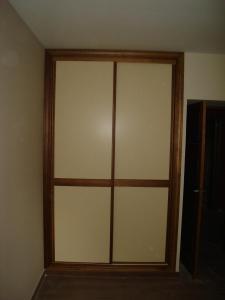 Armario puertas correderas color crema