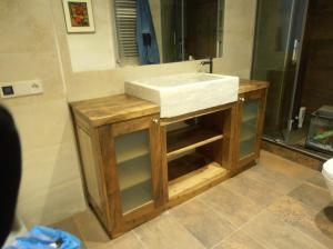 Mueble baño nogal