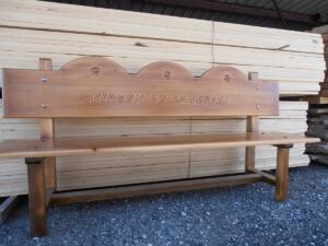 Banco de madera personalizado VIRGEN DE LA ADRADA