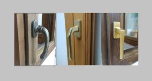 Manilla ventana color bronce y dorado