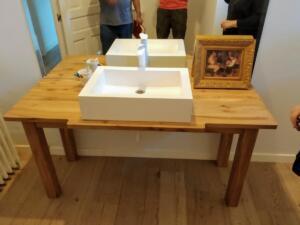 Mueble baño madera macizo olmo