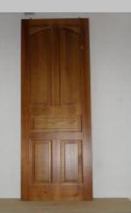 Puertas interior madera estilo castellana con curva