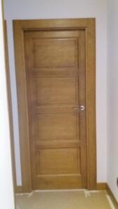 Puerta interior madera castellana 4 cuadros