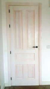 Puerta interior madera vidriera vintage