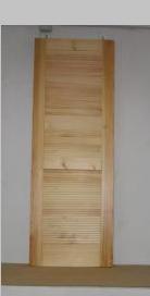Puerta interior madera mod. lamas
