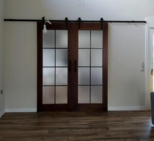 Puertas interior madera vidrieras estilo rancho