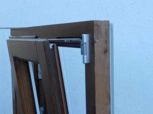 Detalle ventanas madera-aluminio