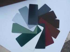 Muestras de colores de aluminio