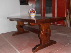 Mesa bodega madera para diferentes largos
