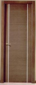 Puerta interior lisa wengue
