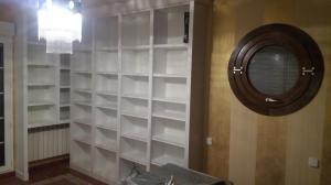 Librería lacada madera color blanco